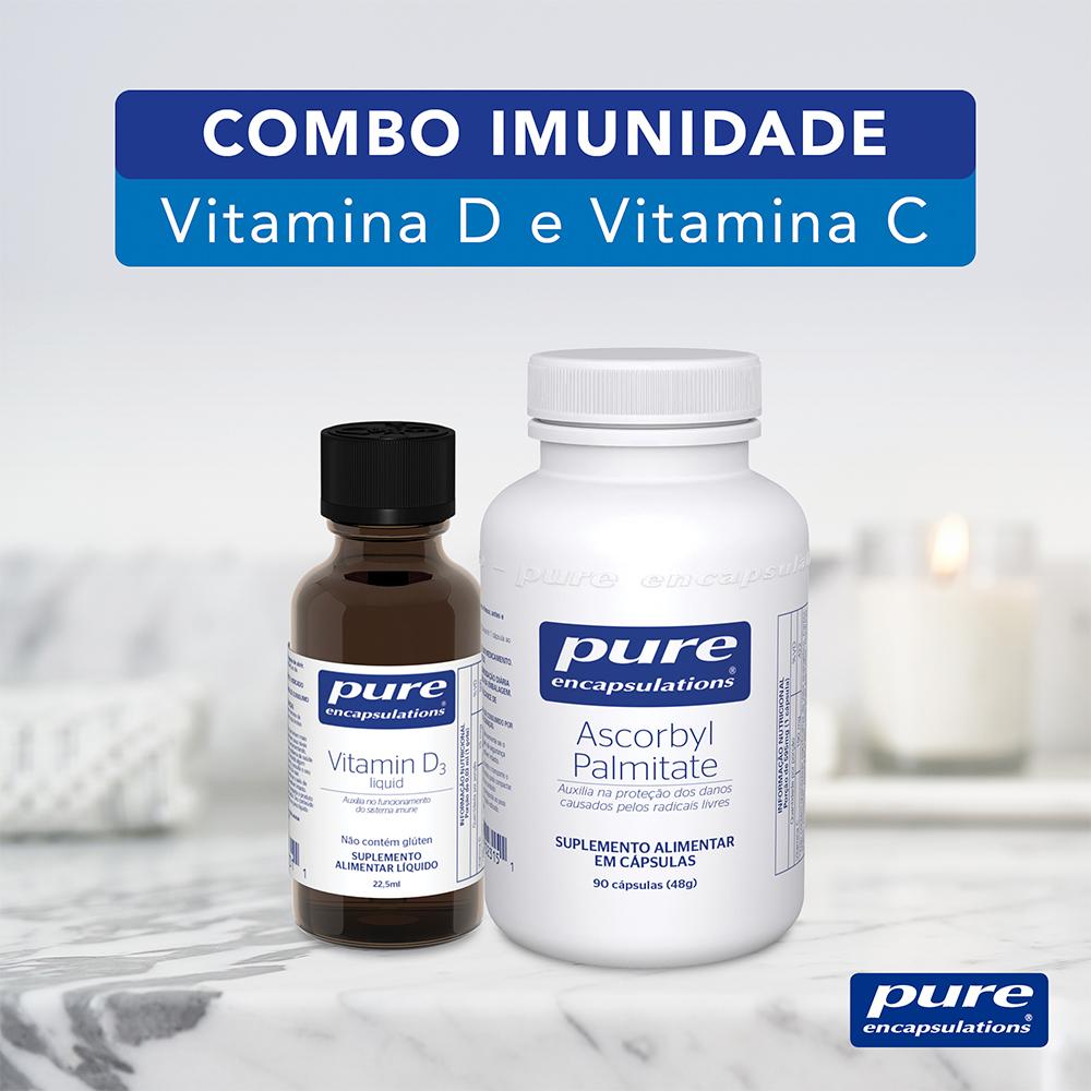 COMBO IMUNIDADE - Vitamina D3 Liquida e Palmitato de Ascorbila