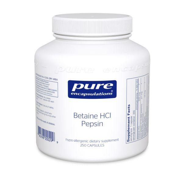 Betaine HCl Pepsin 250 capsules